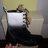 новые Diesel Италия оригинал кожаные ботинки сапоги размер 36-38