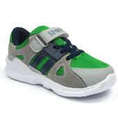 100-5138-5 , Детская спортивная обувь кроссовки для мальчика, J&G , зеленый, размеры 26-31