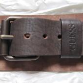 Ремень пояс кожаный коричневый Guess (M) Италия