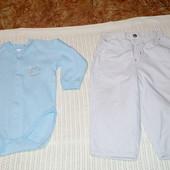 Бодик Бемби и утепленные штанишки M&S. На мальчика 1-1,5 года. 80-86 см