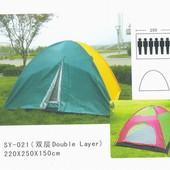 Палатка 6-ти местная с тентом SY-021