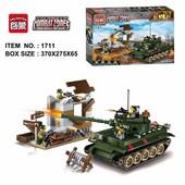 Конструктор 1711 Военный танк enlighten Brick , военная серия