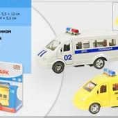 Машина полиция маршрутка инерционная Play smart 6442