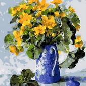Картина по номерам Mariposa Букет в синем кофейнике Q-1019