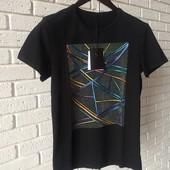 Мужская футболка черная L XL