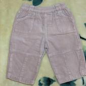 Вельветовые штанишки (штаны, брюки) ТМ Bhs Bambini, р. 3-6 мес. (рост 68 см), бежевые
