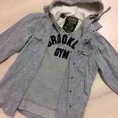 Крутая рубашка капюшонка Brooklyn, S-M