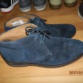 (№560)фирменные кожаные туфли 43-44 р Uk10 Geox