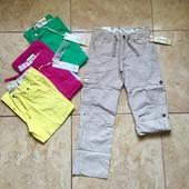 Летние коттоновые брюки для девочки на 140-164 см