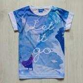 Яркая футболка для девочки. Disney at Y.D. Размер 8-9 лет. Состояние: новой вещи