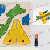 Деревянный 3D пазл, конструктор, Самолет