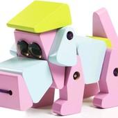 Деревянная игрушка собака-акробат Cubika