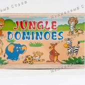 Деревянная игрушка Домино MD 0676, деревянное домино Джунгли Животные