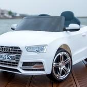 Электро автомобиль Audi S5 белый легковая на р. у. 6v7ah с mp3 T-796