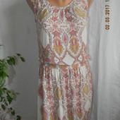 Легкое натуральное платье в пол с принтом