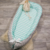 Кокон - гнездышко для малыша со съемным чехлом и до 3-х лет