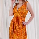 Размеры 42-48 Летнее женское трикотажное платье