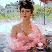 Картина по номерам Mariposa Французское кафе Q-1768