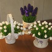 Цвети (любие)з полимернои глини