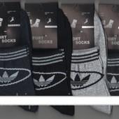 Носки женские демисезонные спортивные х/б Adidas, Sport Socks, ассорти, средние