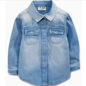 Джинсовая рубашка Next, 5-6 (4-5) лет (110-116 см), в наличии.
