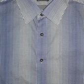Мужская рубашка в мелкую клетку с градиентом Yorn ( L )