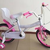 Детский велосипед для девочек, с колёсами 16 от 4-х лет
