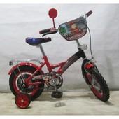 Детский 2-х колесный велосипед 12 дюймов  T-21224 Пожарник
