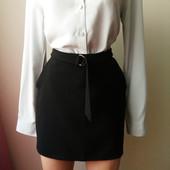Стильная мини юбка со вшитым поясом и карманами Размер 38/10/C-М