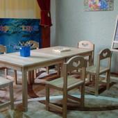 Стол детский Растишка натуральное дерево массив ольхи