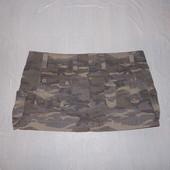 L-XL, поб 50-52, юбка милитари Matalan Papaya с поясом очень стильная