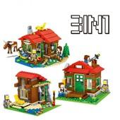 Конструктор Minecraft Lele 33020 Домик у озера (3в1) Майнкрафт