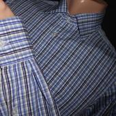 Рубашка с длинным рукавом в синюю клетку. Размер S.