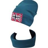 Комплекты шапка с хомутом Британия школьникам и школьницам