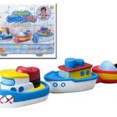 Набор для игры в ванной «Лодки на магнитах», Alex 823W (сша) корабли для купания, транспорт