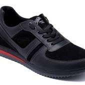 2 цвета мужские кроссовки кожа модель: Б 106Ч