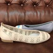 Натуральные балетки, Тm Marco Tozzi - Германия, распродажа, возможна примерка в магазине