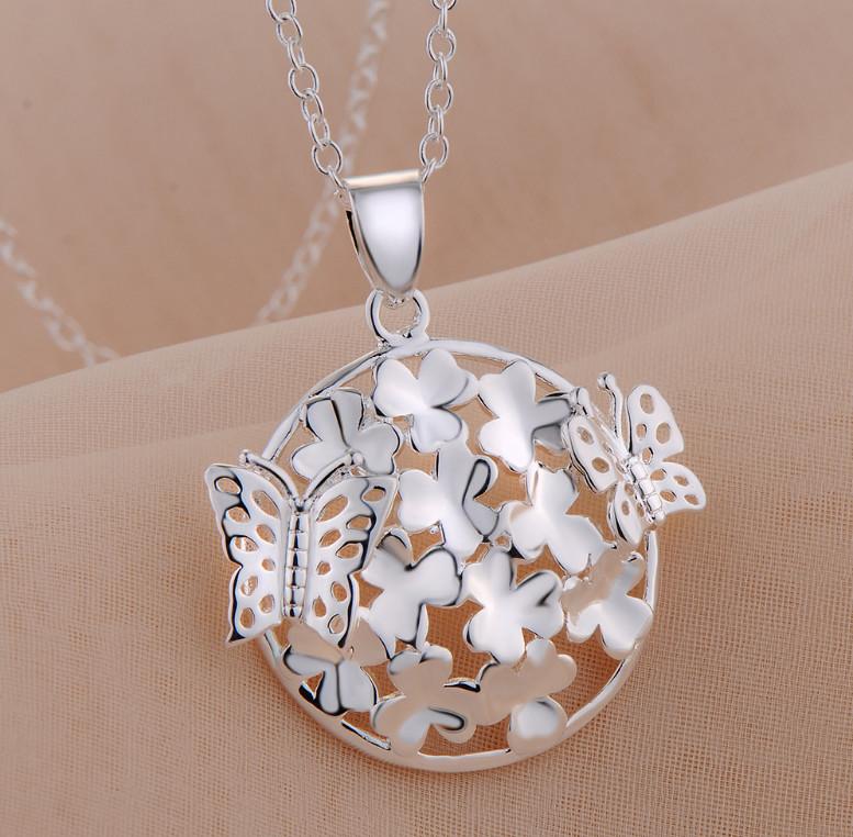 Бомбезный кулон, медальон, подвеска Мотыльки на клевере серебро 925 фото №1