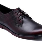 2 цвета мужские туфли кожаМодель: Б  122ч