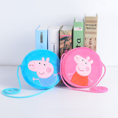 Сумка кошелек peppa george голубая розовая детская сумочка