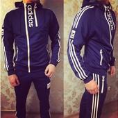 """Спортивный мужской костюм """" Adidas """" 2017 / 46, 48, 50,52 (2с"""