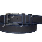 Стильный современный мужской ремень синего цвета (П-039)
