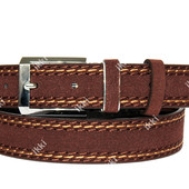 Модный ремень коричневого цвета для мужчин (П-042)