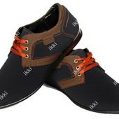 43 р Современные мужские туфли синего цвета (БМ-01 бр)
