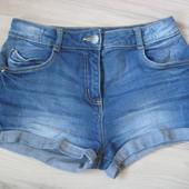 Шорты джинс для девочки 8-10 лет george