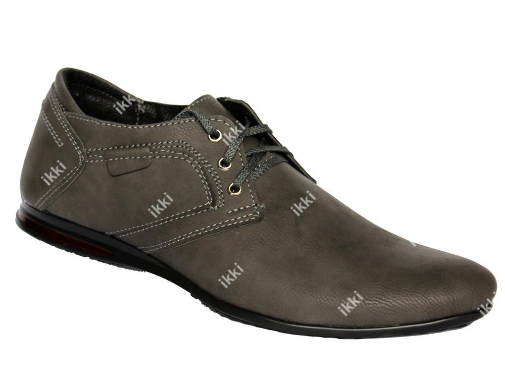 40 р Демисезонные мужские туфли серого цвета (БМ-01ср) фото №1