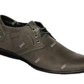 40 и 43 р Демисезонные мужские туфли серого цвета (БМ-01ср)