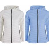 Белая и голубая весенняя женская куртка