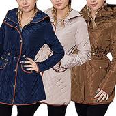 Женское стеганое пальто демисезонное