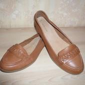 Туфли лоферы балетки New Look 38 р 24,5 см кожа везде